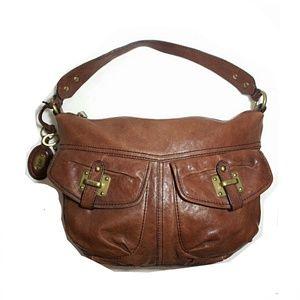 Fossil Long Live Vintage Leather Hobo Bag